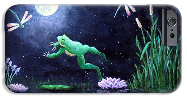 Flying Frog iPhone Cases - Spring on the Pond iPhone Case by Amy Scholten