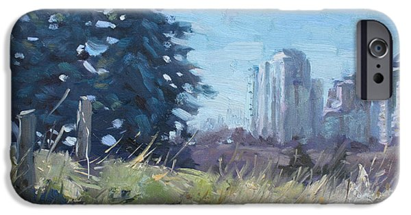 Pines iPhone Cases - Spring over the Hills iPhone Case by Ylli Haruni
