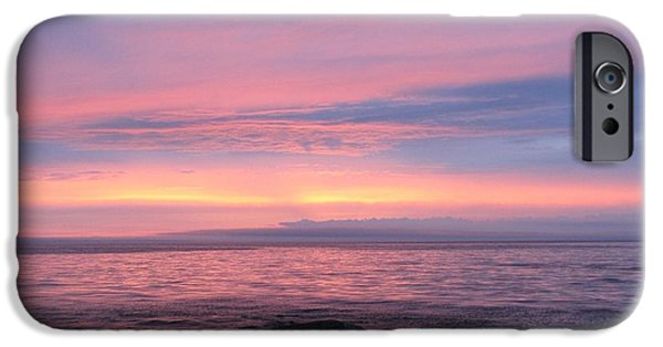 Recently Sold -  - Pastel iPhone Cases - Pastels over Pentwater Beach iPhone Case by Jane Greiner