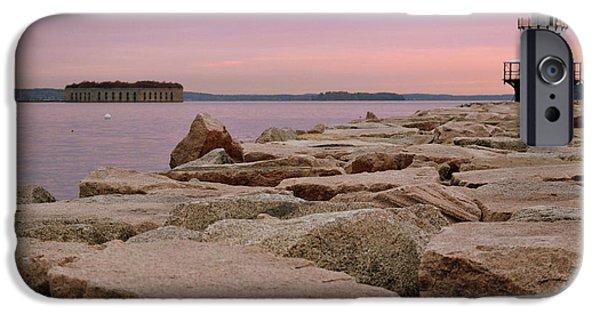 Ledge iPhone Cases - Spring Point and Fort Gorges iPhone Case by Colleen Phaedra