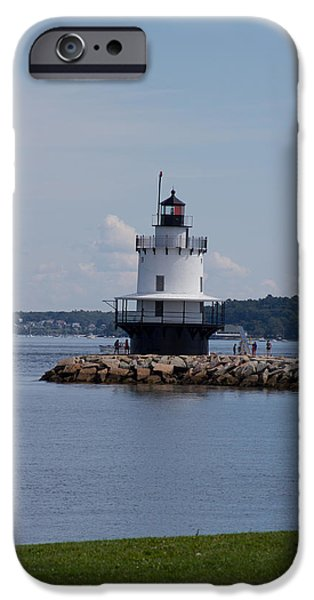 Ledge iPhone Cases - Spring Point Ledge Lighthouse iPhone Case by Randy Bourque