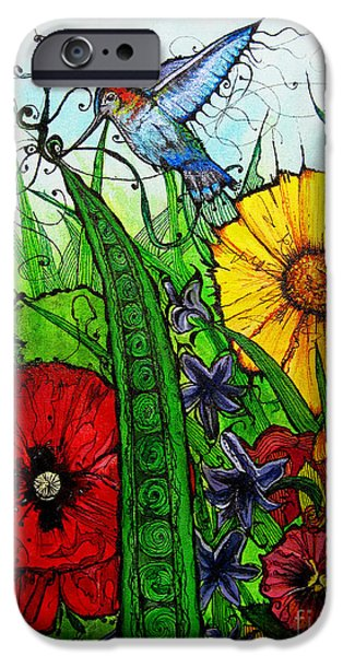 Green Beans iPhone Cases - Spring Things iPhone Case by Carrie Jackson