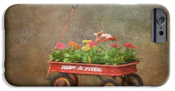 One iPhone Cases - Spring Wagon iPhone Case by Jayne Carney