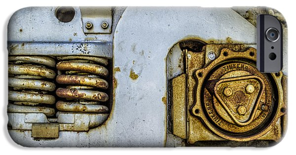 Rust iPhone Cases - Springs and Gears iPhone Case by Lindley Johnson
