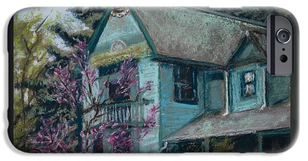 Board iPhone Cases - Springtime in Old Town iPhone Case by Mary Benke