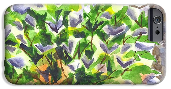 Abstract Expressionism iPhone Cases - Springtime Lilac Abstraction iPhone Case by Kip DeVore