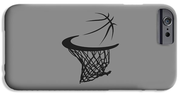 Dunk iPhone Cases - Spurs Basketball Hoop iPhone Case by Joe Hamilton