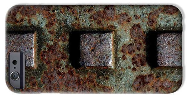 Rust iPhone Cases - Square Corrosion iPhone Case by Denise Clark