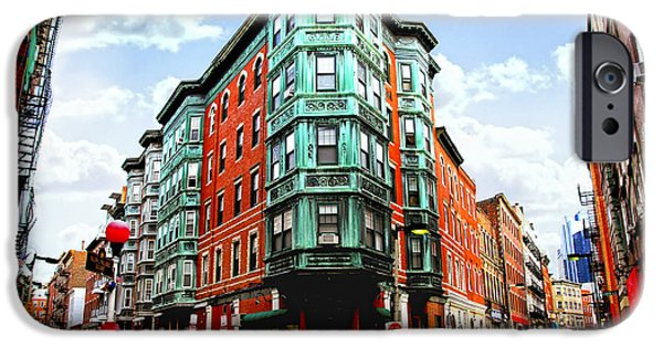 Escape iPhone Cases - Square in old Boston iPhone Case by Elena Elisseeva