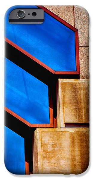 Blue Abstracts iPhone Cases - Squares And Lines iPhone Case by Karol  Livote