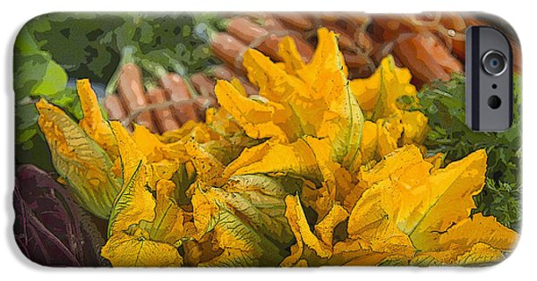 French Open iPhone Cases - Squash Blossoms iPhone Case by Jeanette French