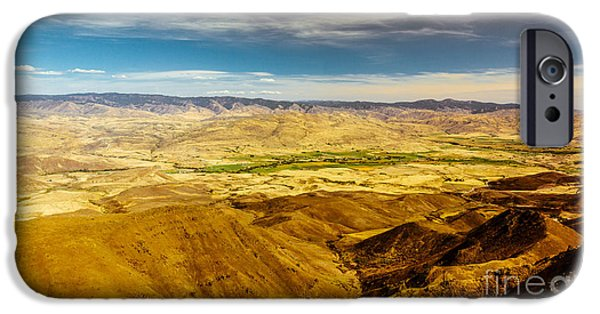 Drama iPhone Cases - Squaw Butte View HDR-2 iPhone Case by Robert Bales