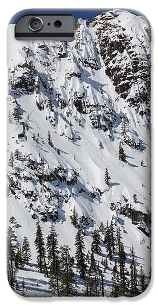 Tram iPhone Cases - Squaw Valley Tram Hill  iPhone Case by Dustin K Ryan