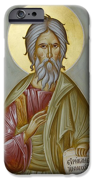 St Andrew the Apostle and First-Called iPhone Case by Julia Bridget Hayes