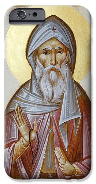 St Anthony the Great iPhone Case by Julia Bridget Hayes