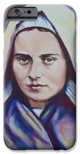 Miracle iPhone Cases - St. Bernadette Soubirous iPhone Case by Sheila Diemert