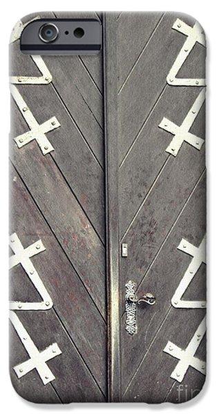 Business iPhone Cases - St. Bonifatius Church Doors 1 iPhone Case by Sarah Loft