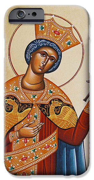 St Catherine iPhone Case by Julia Bridget Hayes