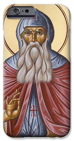 St David of Evia iPhone Case by Julia Bridget Hayes