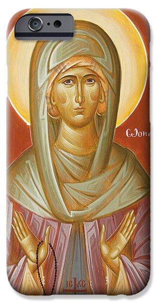 St Elizabeth the Wonderworker iPhone Case by Julia Bridget Hayes