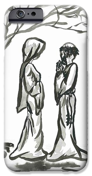 St. Francis and St. Clare iPhone Case by Jason Honeycutt