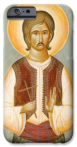New Martyr iPhone Cases - St George the New Martyr of Chios iPhone Case by Julia Bridget Hayes