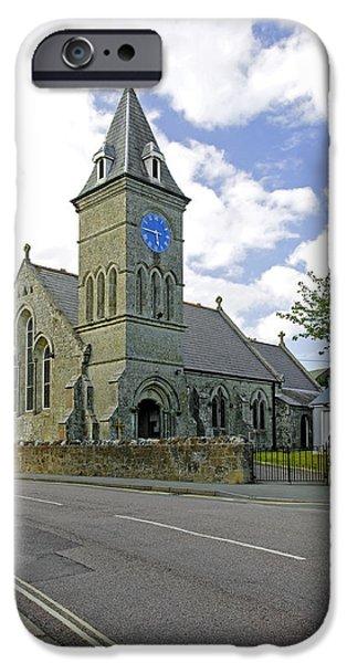 St John The Evangelist Photographs iPhone Cases - St John The Evangelist Church at Wroxall iPhone Case by Rod Johnson