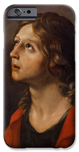 St John The Evangelist Paintings iPhone Cases - St. John the Evangelist  iPhone Case by Guido Reni