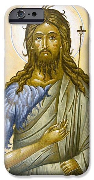 St John the Forerunner iPhone Case by Julia Bridget Hayes
