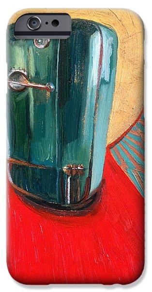 Red Carpet iPhone Cases - St. Kelvinator iPhone Case by Jennie Traill Schaeffer