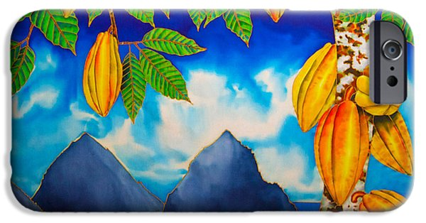 Clouds Tapestries - Textiles iPhone Cases - St. Lucia Cocoa iPhone Case by Daniel Jean-Baptiste