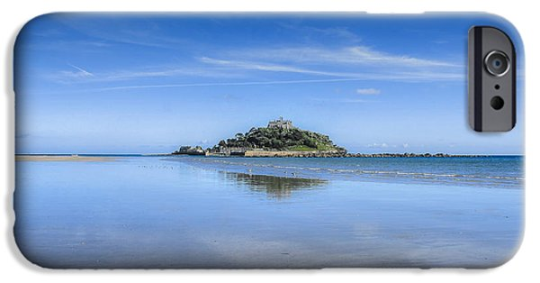 Sand Castles iPhone Cases - St Michaels Mount iPhone Case by Diane Griffiths