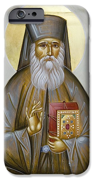 St Nektarios of Aigina iPhone Case by Julia Bridget Hayes