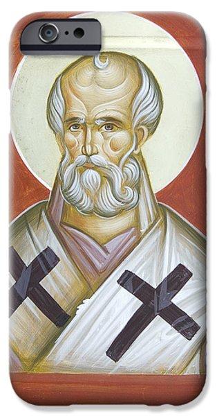 St Nicholas of Myra iPhone Case by Julia Bridget Hayes