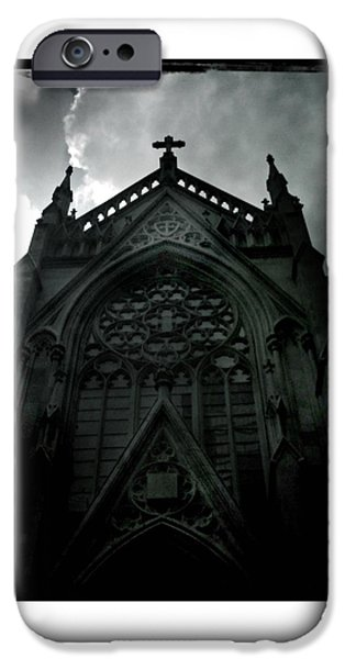 White House iPhone Cases - St Patricks Cathedral with Silver Lining iPhone Case by Miriam Danar