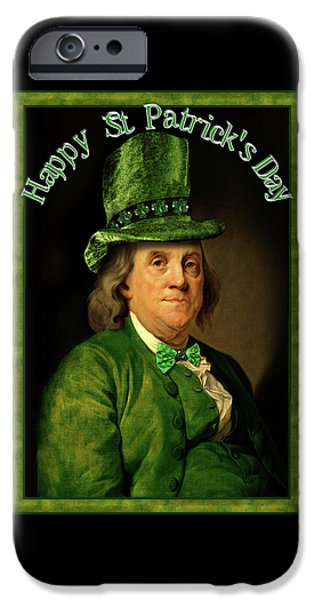 Spoof iPhone Cases - St Patricks Day Ben Franklin iPhone Case by Gravityx9 Designs