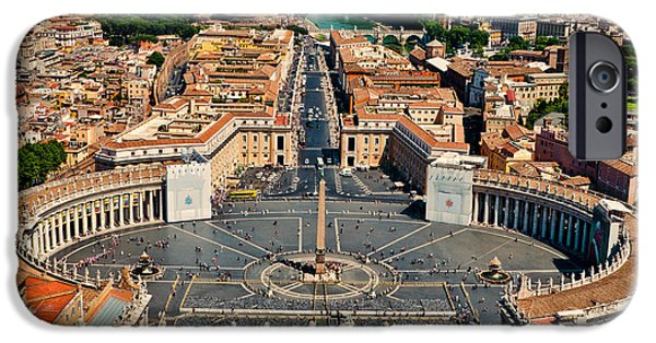 Vatican iPhone Cases - St Peters Square iPhone Case by Jon Berghoff