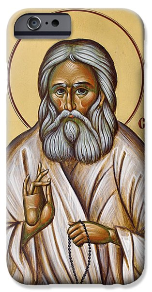 St Seraphim of Sarov iPhone Case by Julia Bridget Hayes