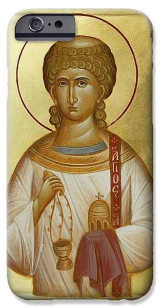 St Stephen the First Martyr and Deacon iPhone Case by Julia Bridget Hayes