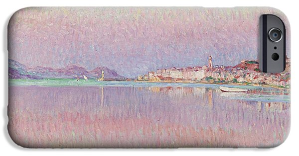 St.tropez iPhone Cases - St Tropez. Two Kids By The Water iPhone Case by MotionAge Designs