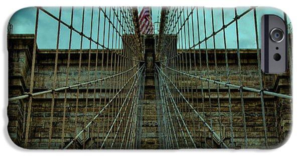 Bay Bridge iPhone Cases - Stable - Brooklyn Bridge iPhone Case by Stephen Stookey