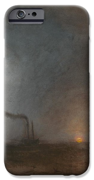 Nature Study Paintings iPhone Cases - Staffa Fingals Cave iPhone Case by William Turner