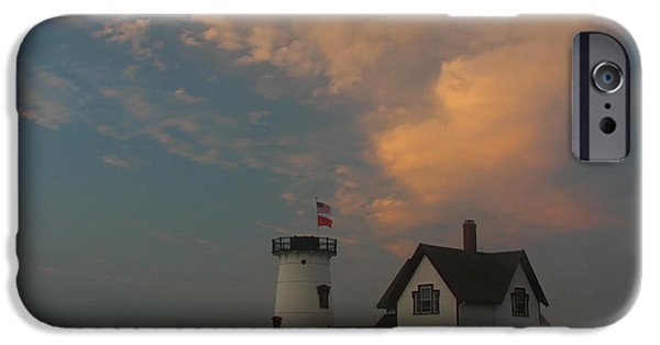 New England Lighthouse iPhone Cases - Stage Harbor Lighthouse iPhone Case by Juergen Roth