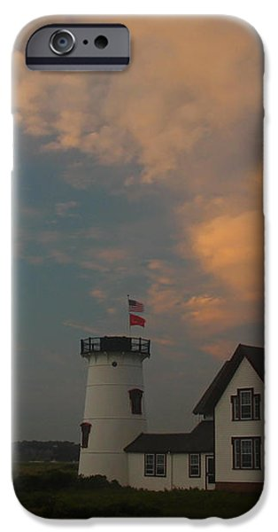 Stage Harbor Lighthouse iPhone Case by Juergen Roth