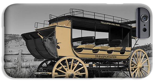 Animals Photographs iPhone Cases - Stagecoach of Yellowstone iPhone Case by Wildlife Fine Art