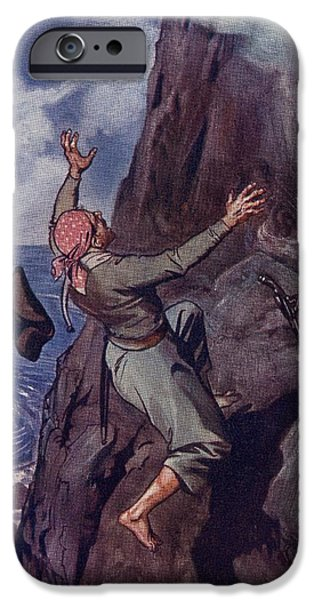 Ledge iPhone Cases - Staggering Backward From The Ledge Fell iPhone Case by Ken Welsh