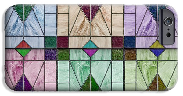 Sign iPhone Cases - Stained Glass Abstract iPhone Case by John Haldane