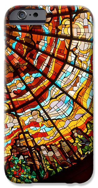 Stained Glass Ceiling iPhone Case by Jerry McElroy