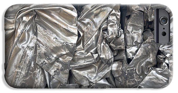 Stainless Steel iPhone Cases - Stainless Steel Recycling iPhone Case by Inga Spence
