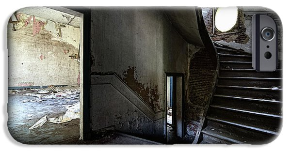 Creepy iPhone Cases - Staircase Abandoned Mansion - Urban Exploration iPhone Case by Dirk Ercken